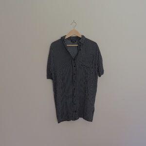 Topshop PETITE Dresses - Topshop Kady Striped Shirt Dress (Missing Belt)